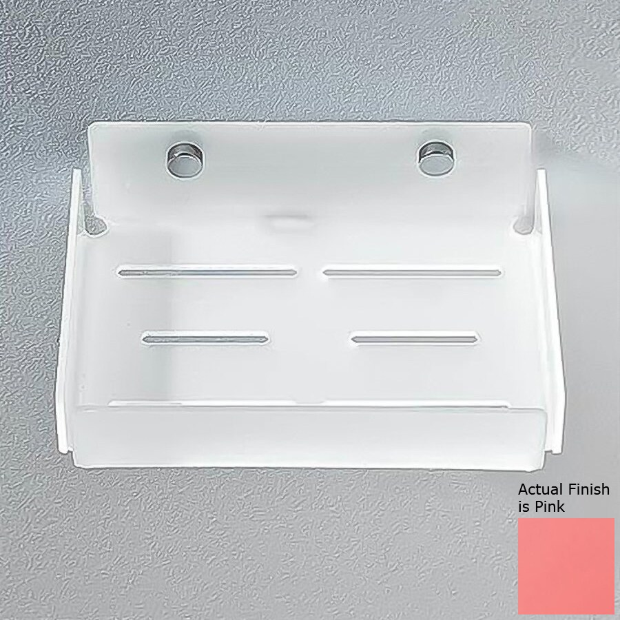 Nameeks Corner Chrome/Pink Plastic Bathroom Shelf