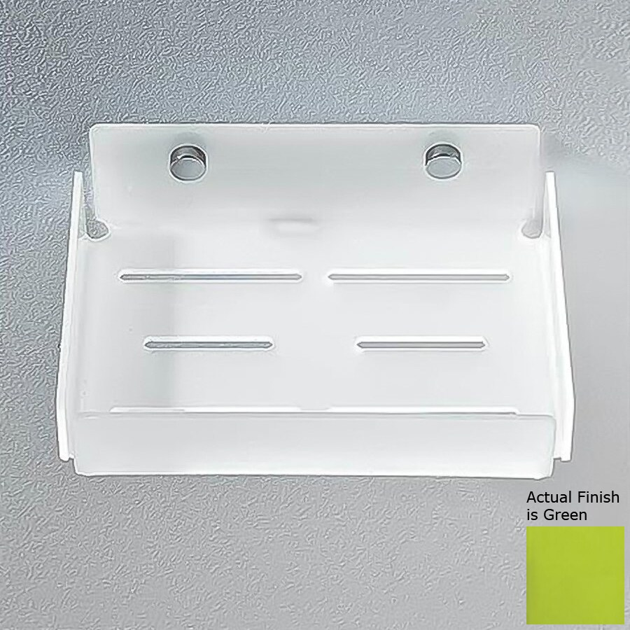 Nameeks Corner Chrome/Green Plastic Bathroom Shelf