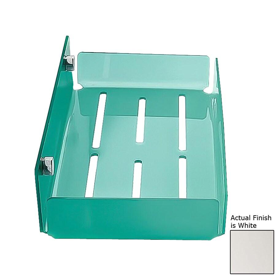 Shop Nameeks Corner Chrome/White Plastic Bathroom Shelf at Lowes.com