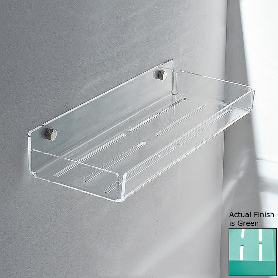 Nameeks Corner Chrome/Green Plastic Bathroom Shelf