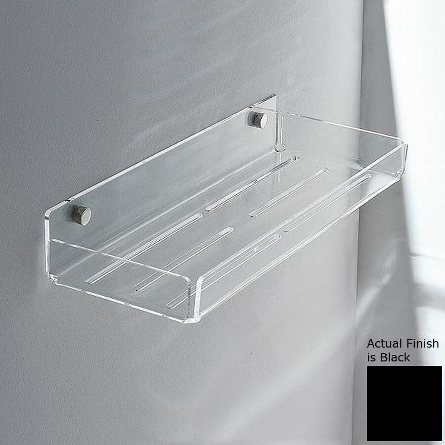 Nameeks Corner Chrome/Black Plastic Bathroom Shelf