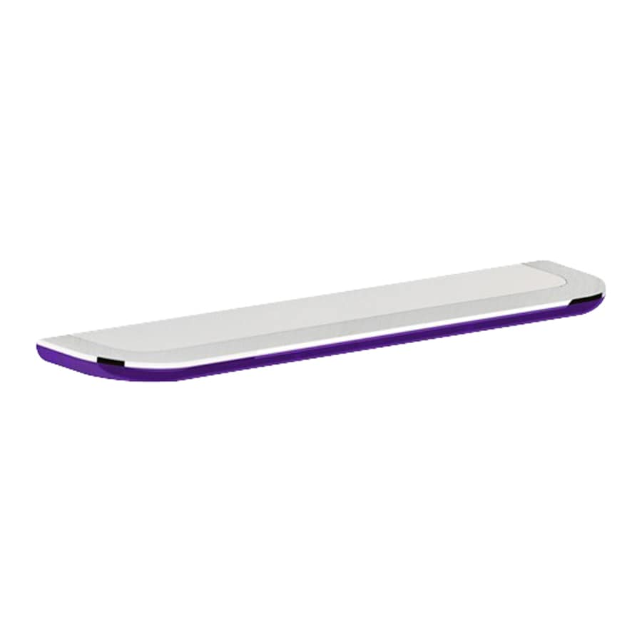 Nameeks Bijou Chrome/Transparent Lilac Bathroom Shelf