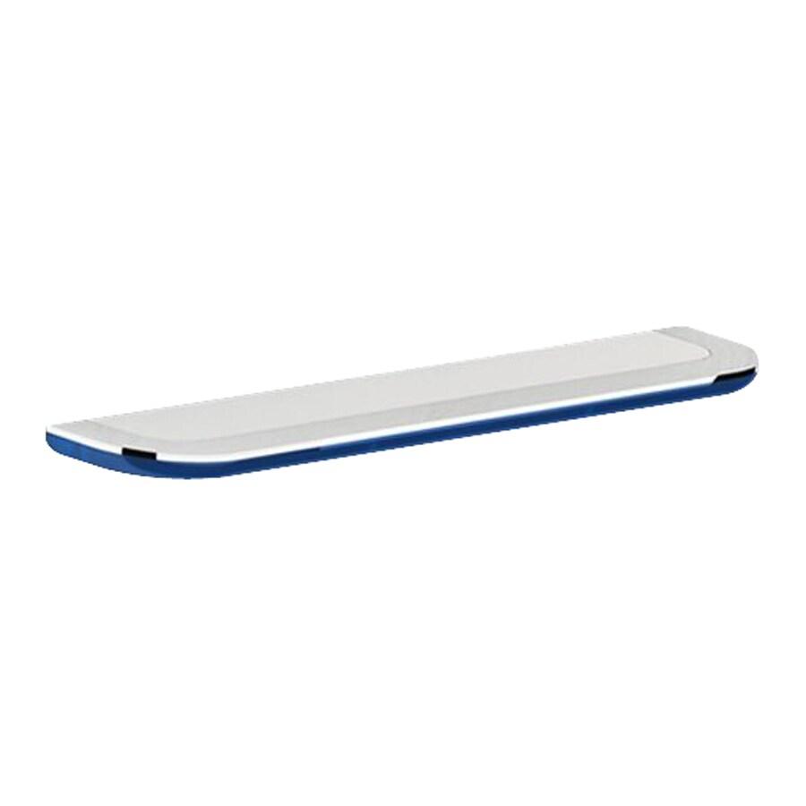 Nameeks Bijou Chrome/Transparent Light Blue Bathroom Shelf