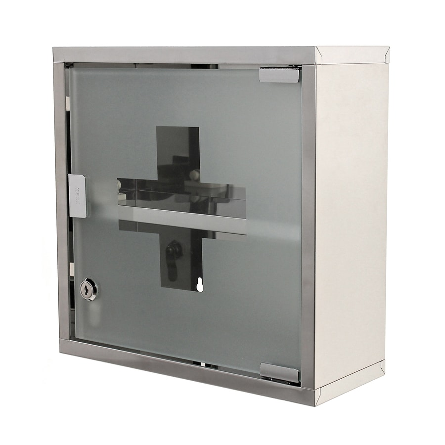 Nameeks Joker 11.8-in x 11.8-in Square Surface Stainless Steel Medicine Cabinet