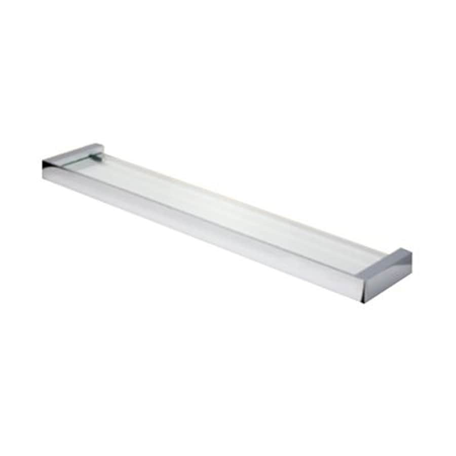 shop nameeks nexx chrome plastic bathroom shelf at lowes com rh lowes com glass bathroom shelf chrome glass bathroom shelf chrome