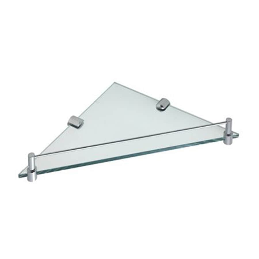 Nameeks Fluyd Chrome Glass Bathroom Shelf