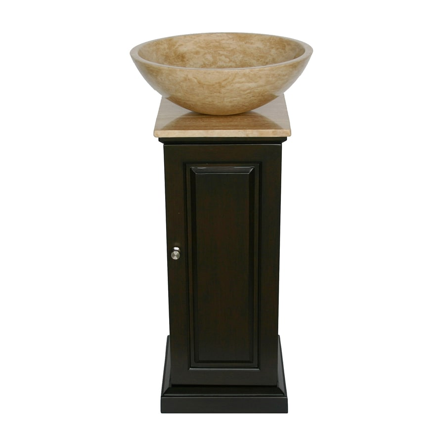 Shop silkroad exclusive neva dark espresso single vessel for Best bathroom vanities for small bathrooms