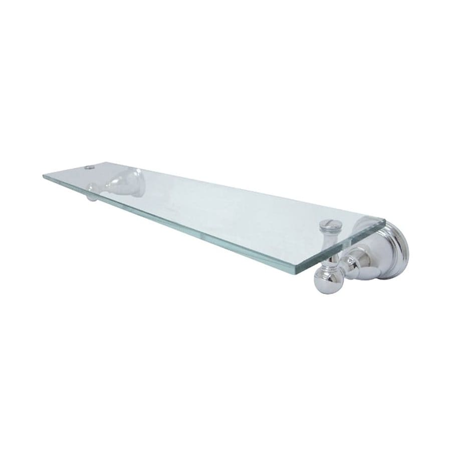 Shop Elements Of Design Heritage Chrome And Glass Bathroom Shelf At