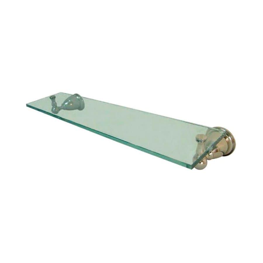 Elements of Design Heritage Polished Nickel and Glass Bathroom Shelf