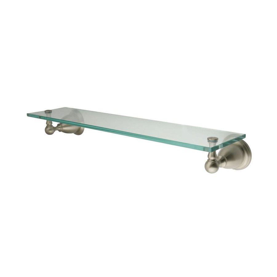 Elements of Design Heritage Satin Nickel Brass Bathroom Shelf