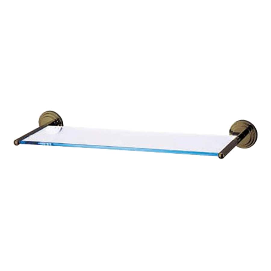 Elements of Design Milano Oil Rubbed Bronze and Glass Bathroom Shelf