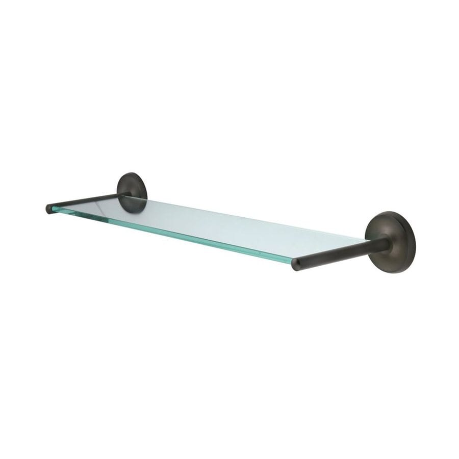 elements of design petosky oil rubbed bronze and glass bathroom shelf - Glass Shelves Lowes