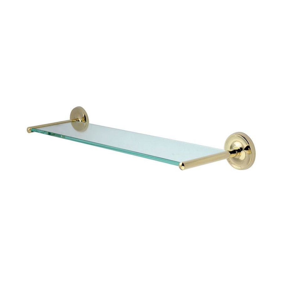 Shop Elements of Design Petosky Polished Brass and Glass Bathroom ...