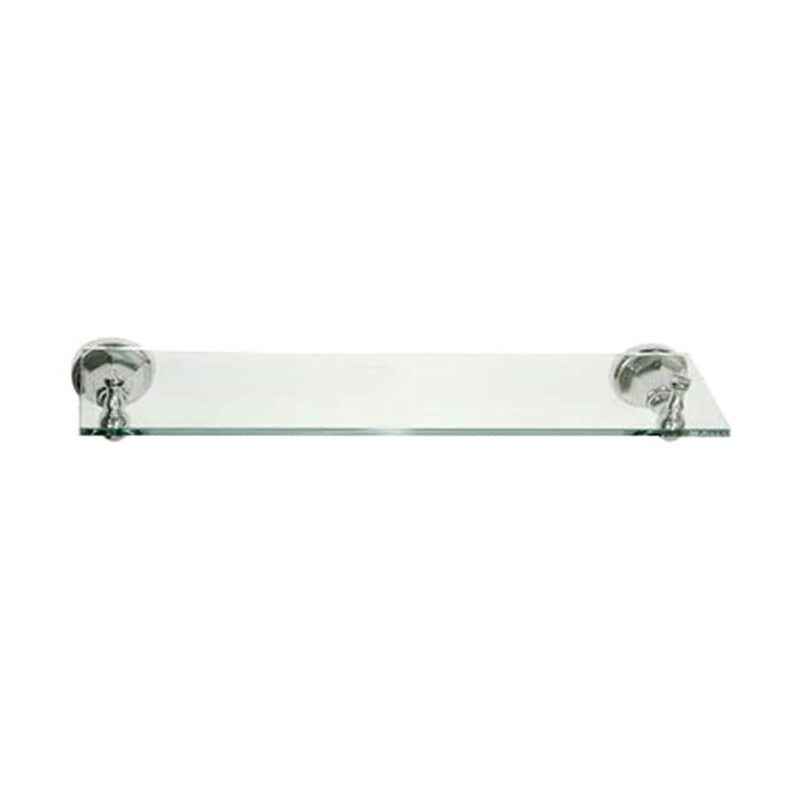 Elements of Design Metropolitan Chrome and Glass Bathroom Shelf
