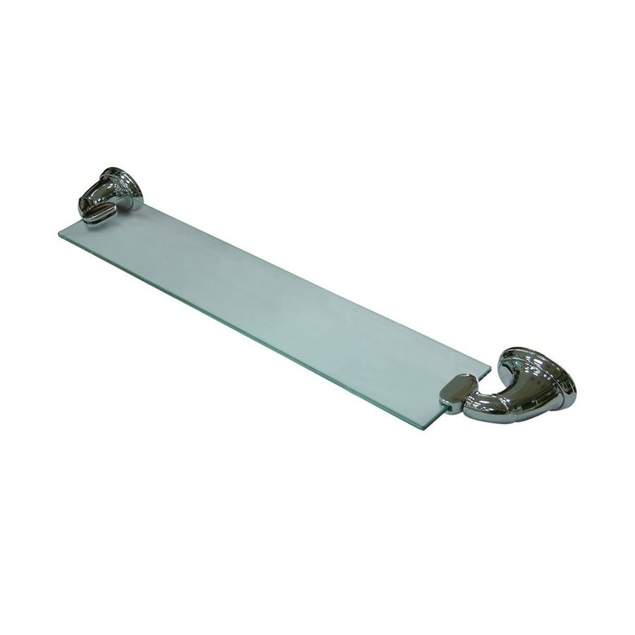 Shop Elements Of Design Magellan Chrome And Glass Bathroom Shelf At