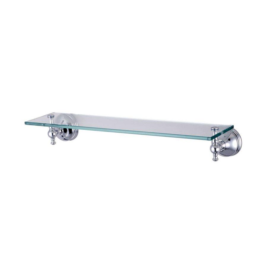 Elements of Design Naples Chrome and Glass Bathroom Shelf