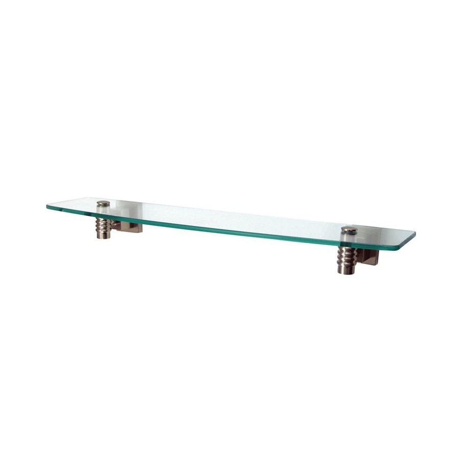 Elements of Design Fortress Satin Nickel and Glass Bathroom Shelf