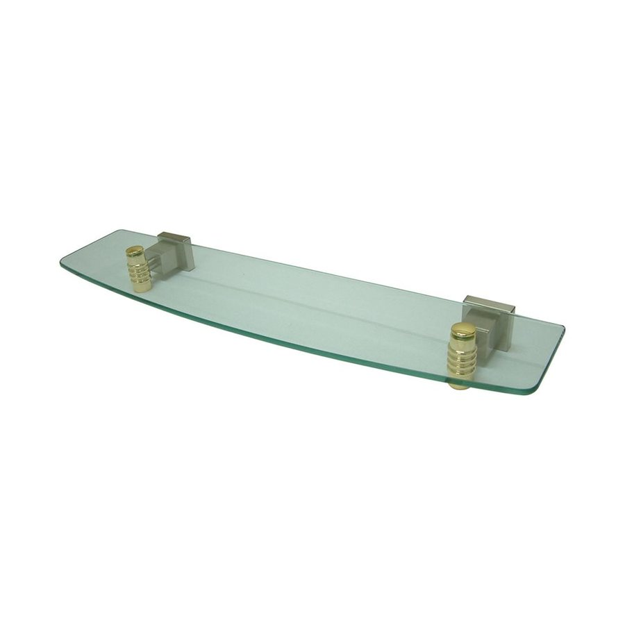 Elements of Design Fortress Satin Nickel/Polished Brass Bathroom Shelf