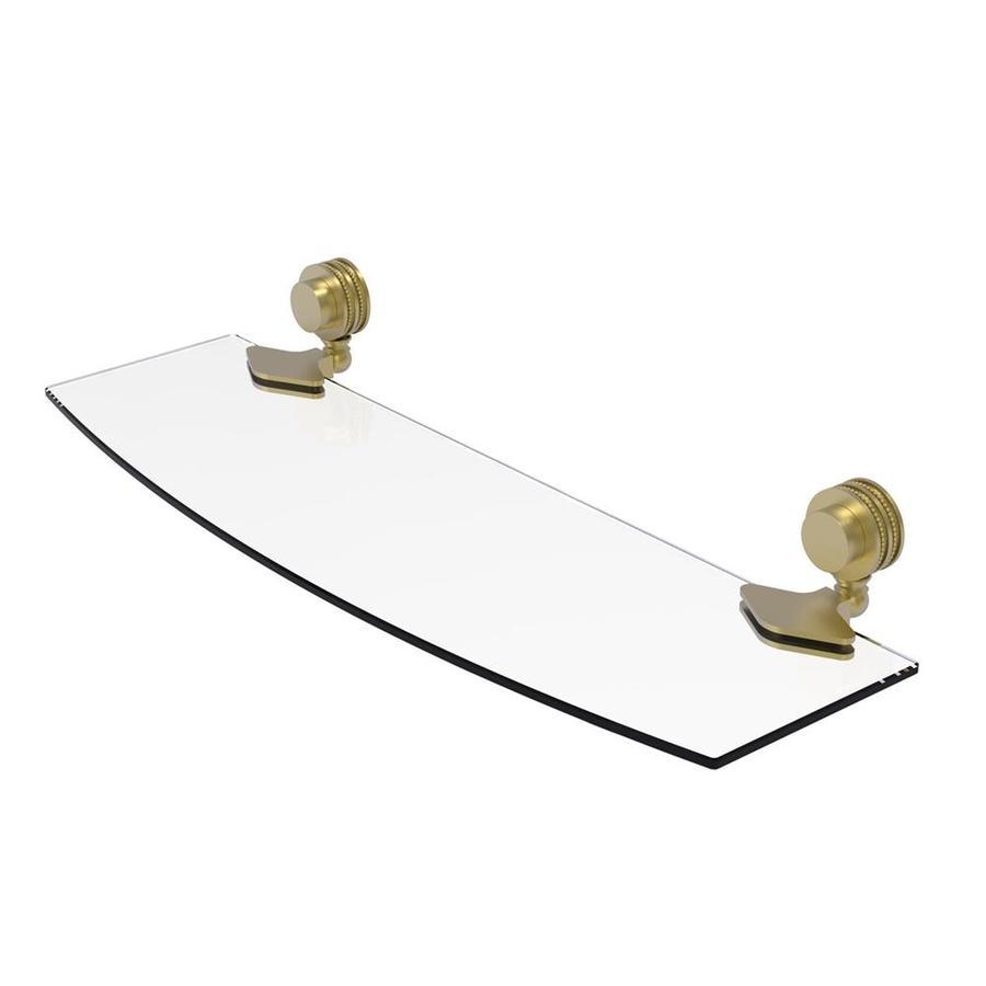 Allied Brass Venus 1-Tier Satin Brass Bathroom Shelf