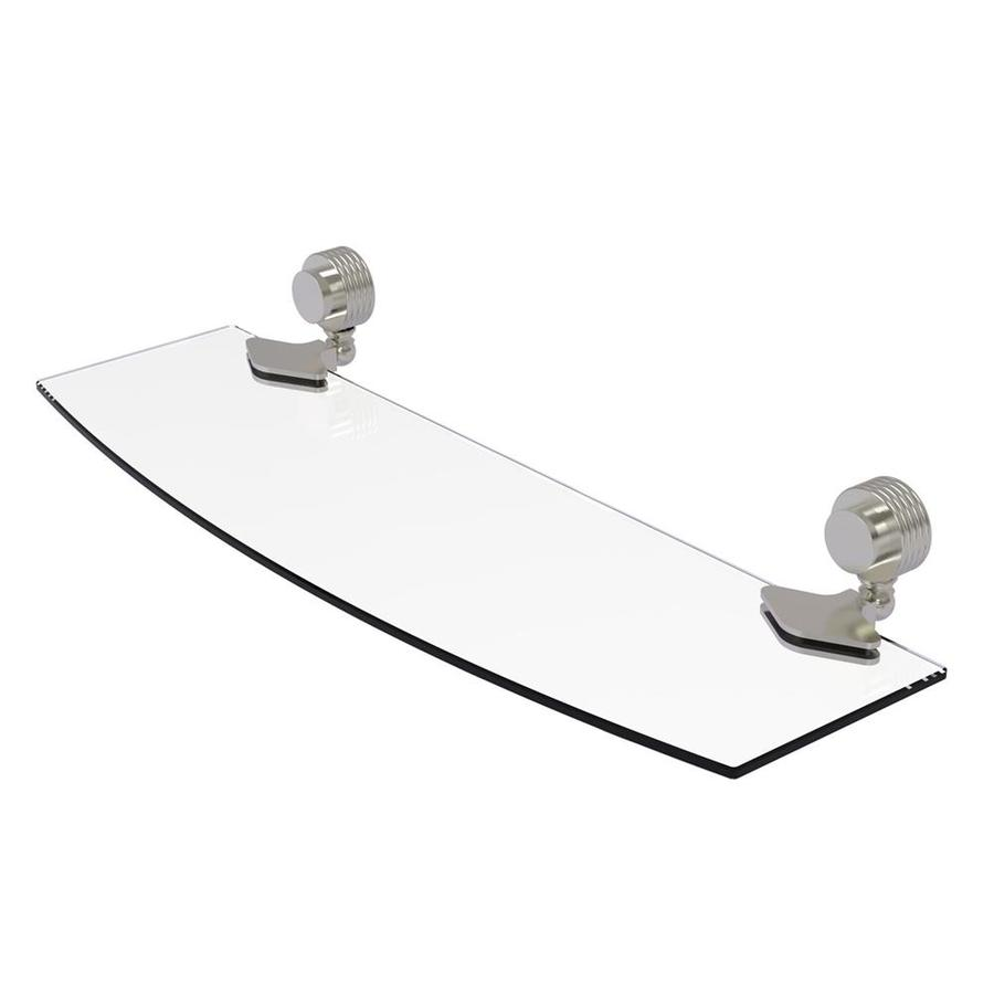 Allied Brass Venus 1-Tier Satin Nickel Bathroom Shelf