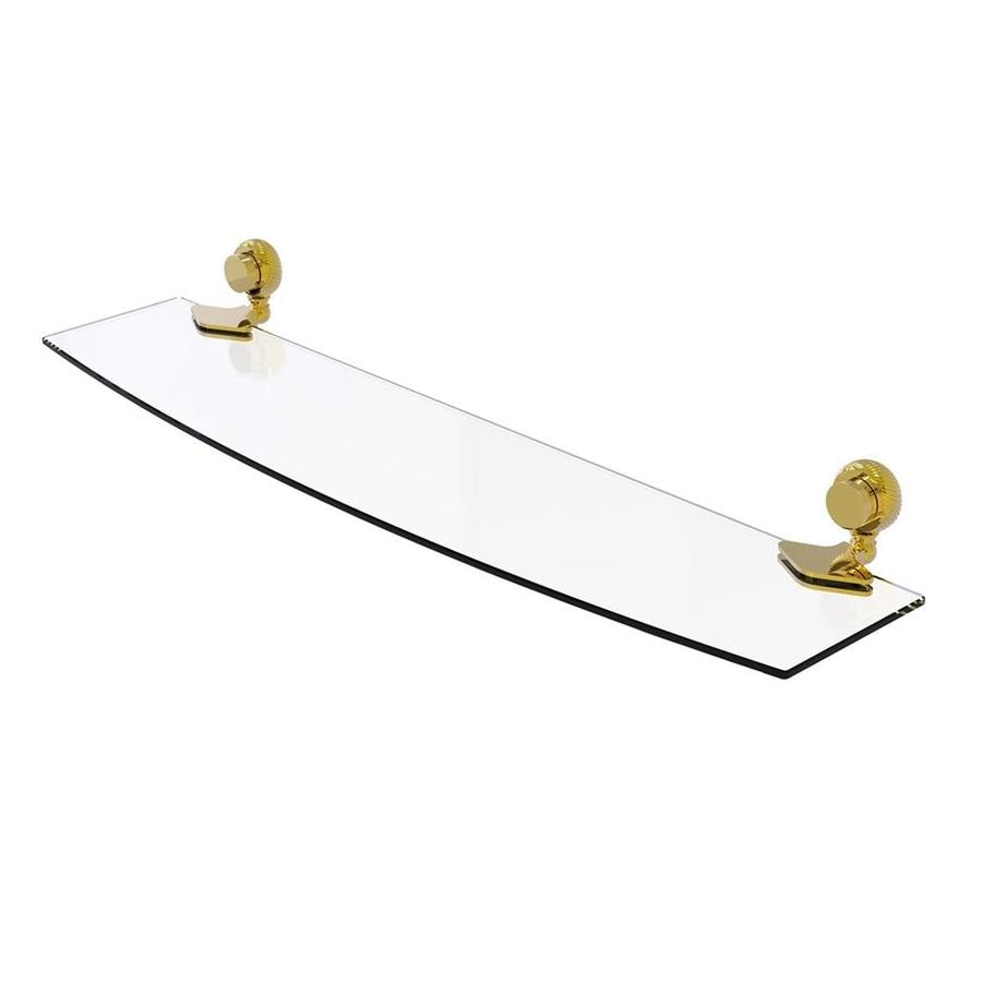 Allied Brass Venus 1-Tier Polished Brass Bathroom Shelf
