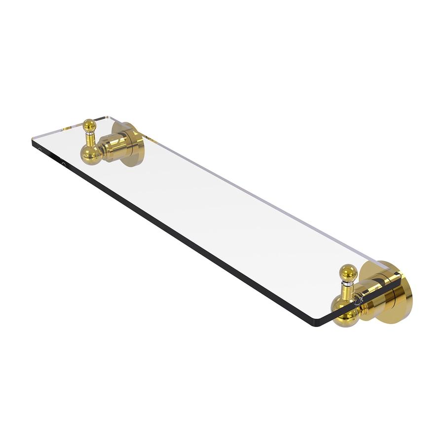 Allied Brass Astor Place 1-Tier Polished Brass Bathroom Shelf