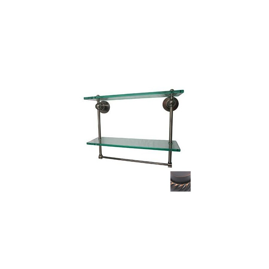 Allied Brass Astor Place 2-Tier Venetian Bronze Brass Bathroom Shelf with Towel Bar