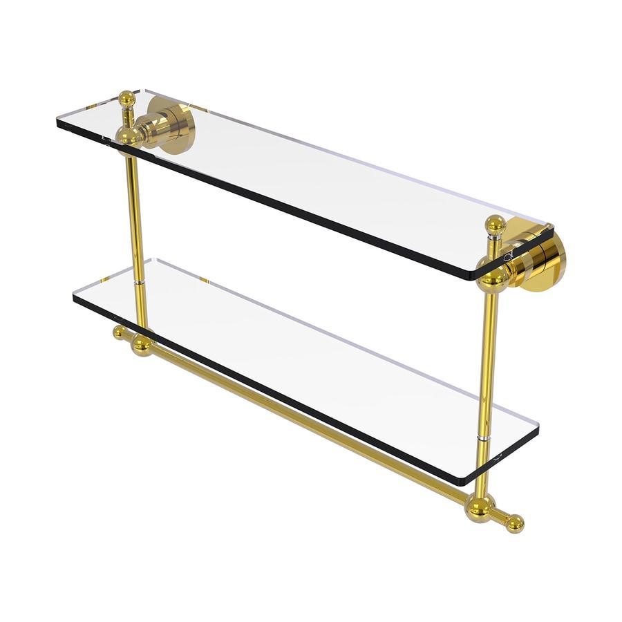 Allied Brass Astor Place 2-Tier Polished Brass Brass Bathroom Shelf