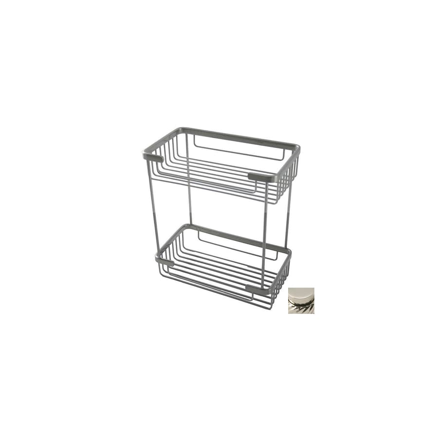 Shop Allied Brass 11.5-in H Solid Brass Freestanding Shower Caddy at ...