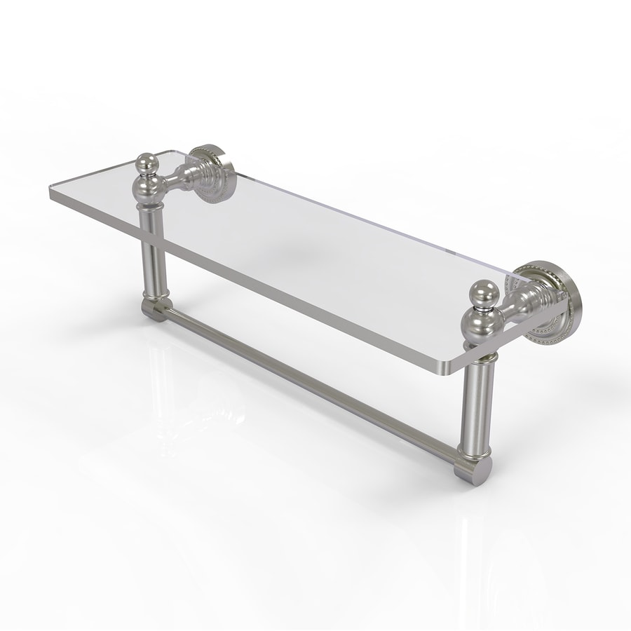 Allied Brass Dottingham 1-Tier Satin Nickel Brass Bathroom Shelf