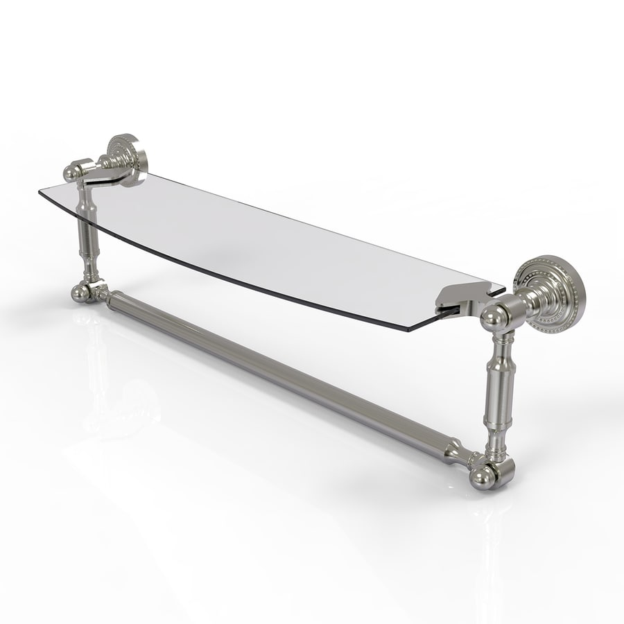 Allied Brass Dottingham Satin Nickel Brass Bathroom Shelf