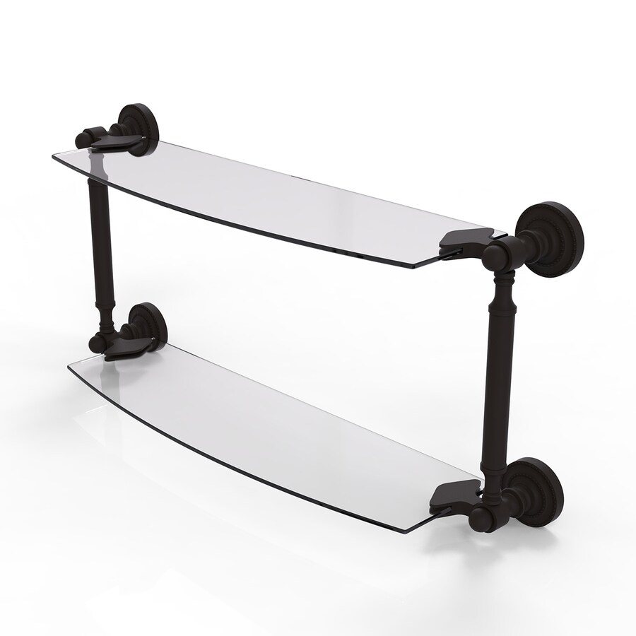 Shop Allied Brass Dottingham 2 Tier Oil Rubbed Bronze Bathroom Shelf At