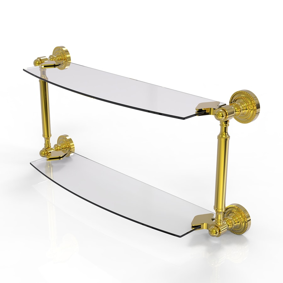 Allied Brass Astor Place 2-Tier Polished Brass Brass Bathroom Shelf