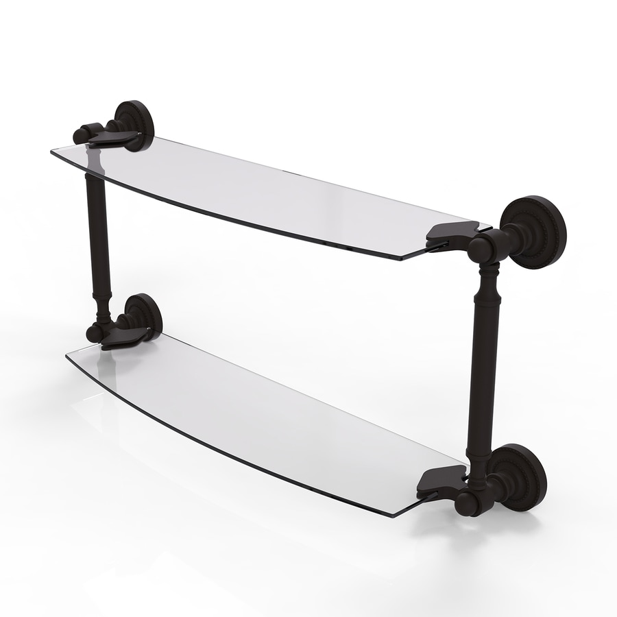 Allied Brass Dottingham 2-Tier Oil Rubbed Bronze Brass Bathroom Shelf
