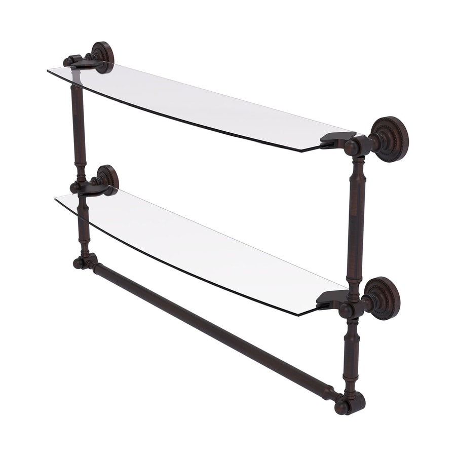 Allied Brass Dottingham 2-Tier Venetian Bronze Brass Bathroom Shelf