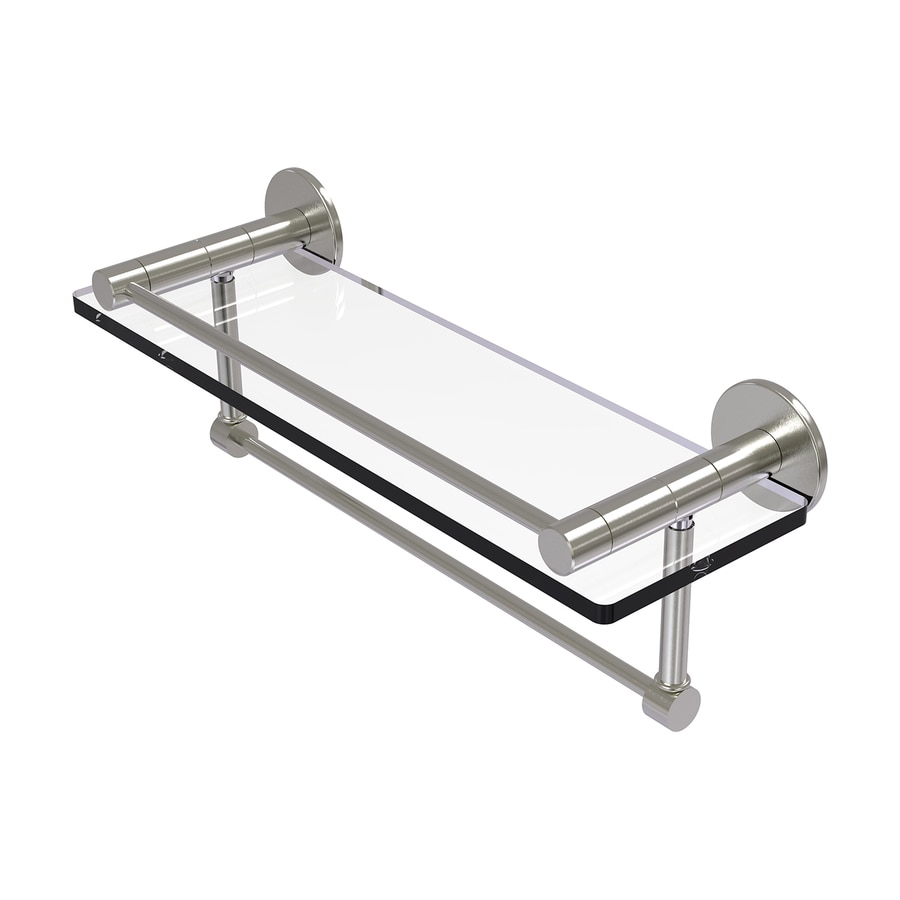 Allied Brass Fresno 1-Tier Satin Nickel Brass Bathroom Shelf