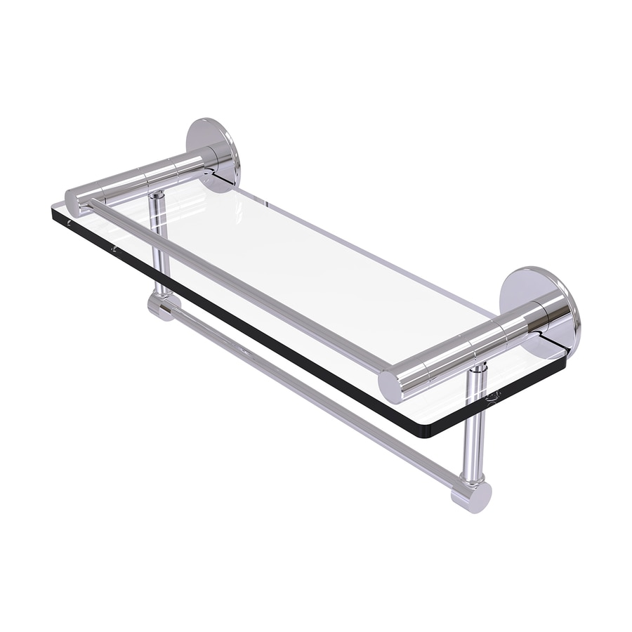 Allied Brass Fresno Polished Chrome Brass Bathroom Shelf