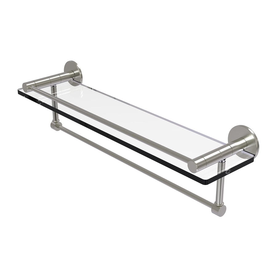 Allied Brass Fresno Satin Nickel Brass Bathroom Shelf