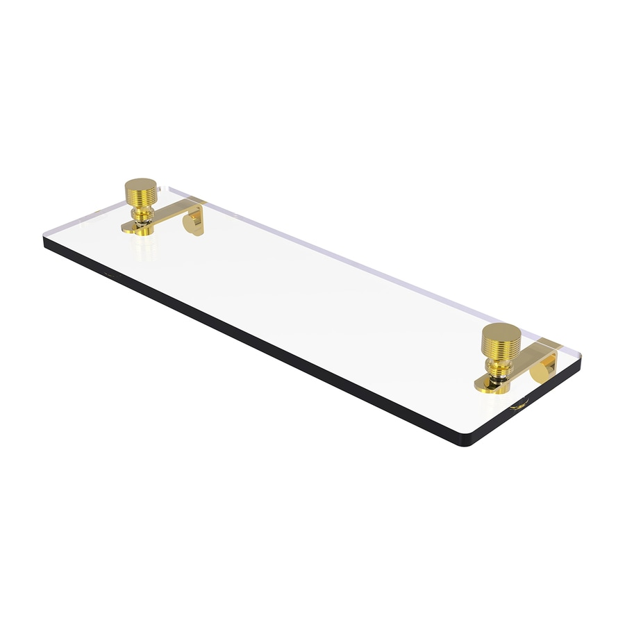 Allied Brass Foxtrot 1-Tier Polished Brass Bathroom Shelf