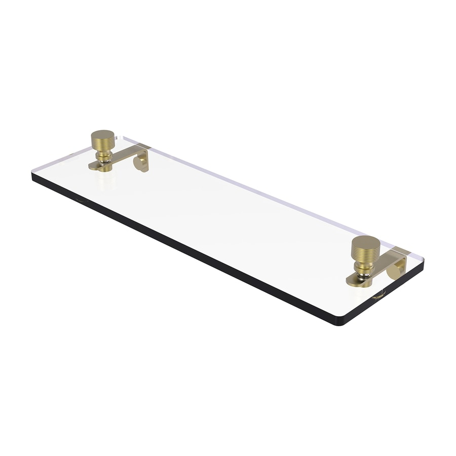 Allied Brass Foxtrot 1-Tier Satin Brass Bathroom Shelf