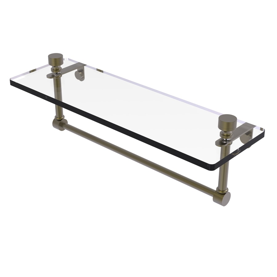 Allied Brass Foxtrot 1-Tier Polished Chrome Brass Bathroom Shelf