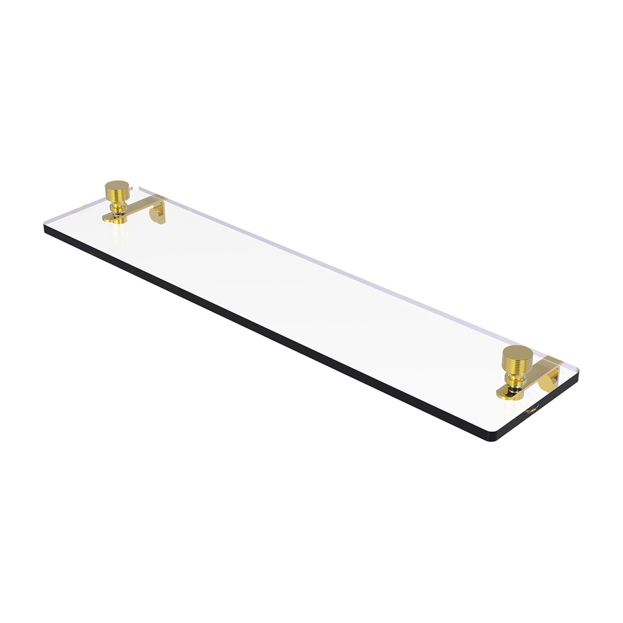 Allied Brass Foxtrot 1-Tier Polished Brass Brass Bathroom Shelf