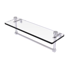 Allied Brass Foxtrot 1 Tier Polished Chrome Bathroom Shelf