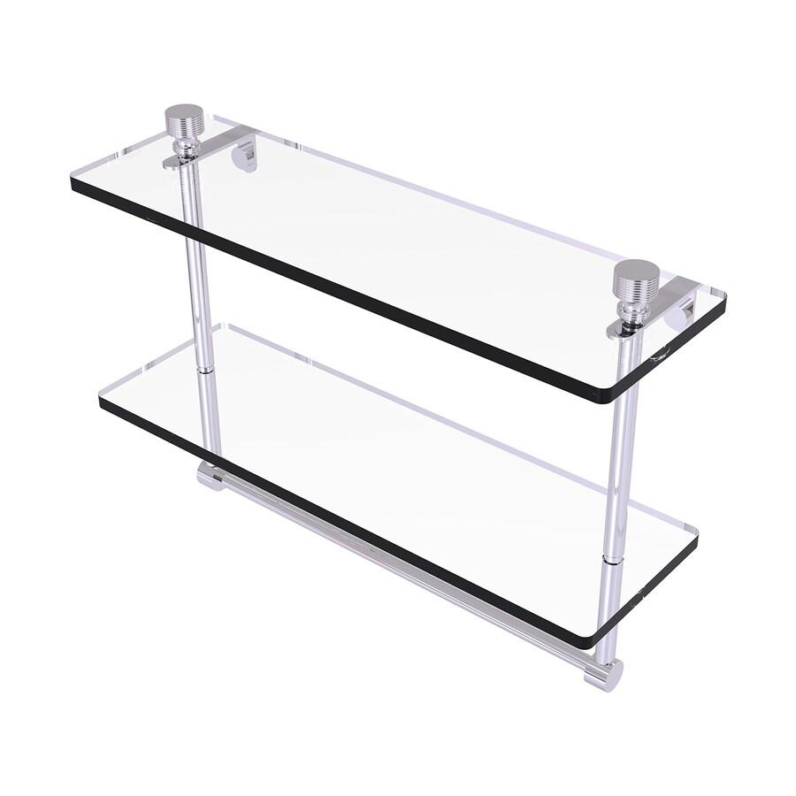 Allied Brass Foxtrot 2-Tier Polished Chrome Bathroom Shelf