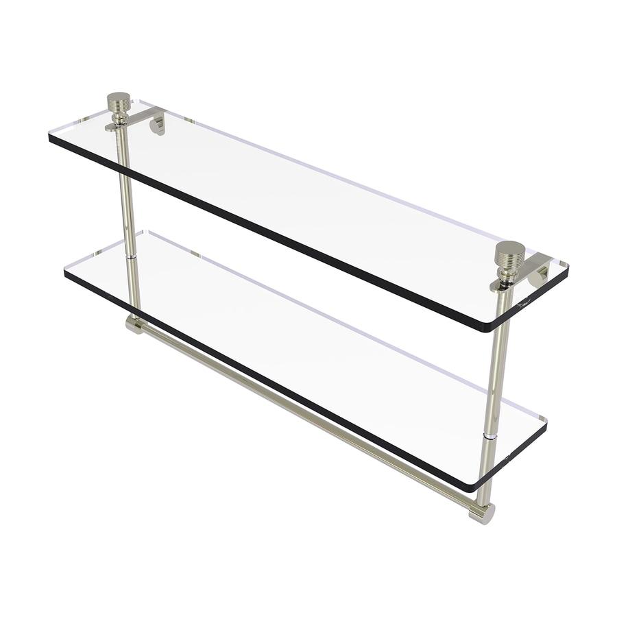 Allied Brass Foxtrot 2-Tier Polished Nickel Bathroom Shelf