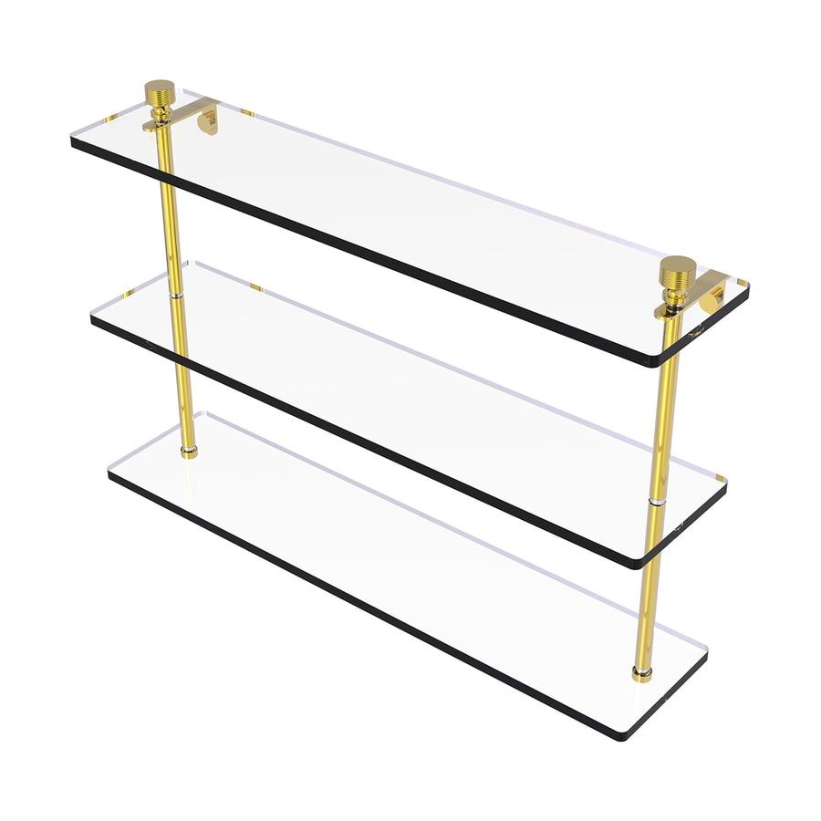Allied Brass Foxtrot 3-Tier Polished Brass Bathroom Shelf