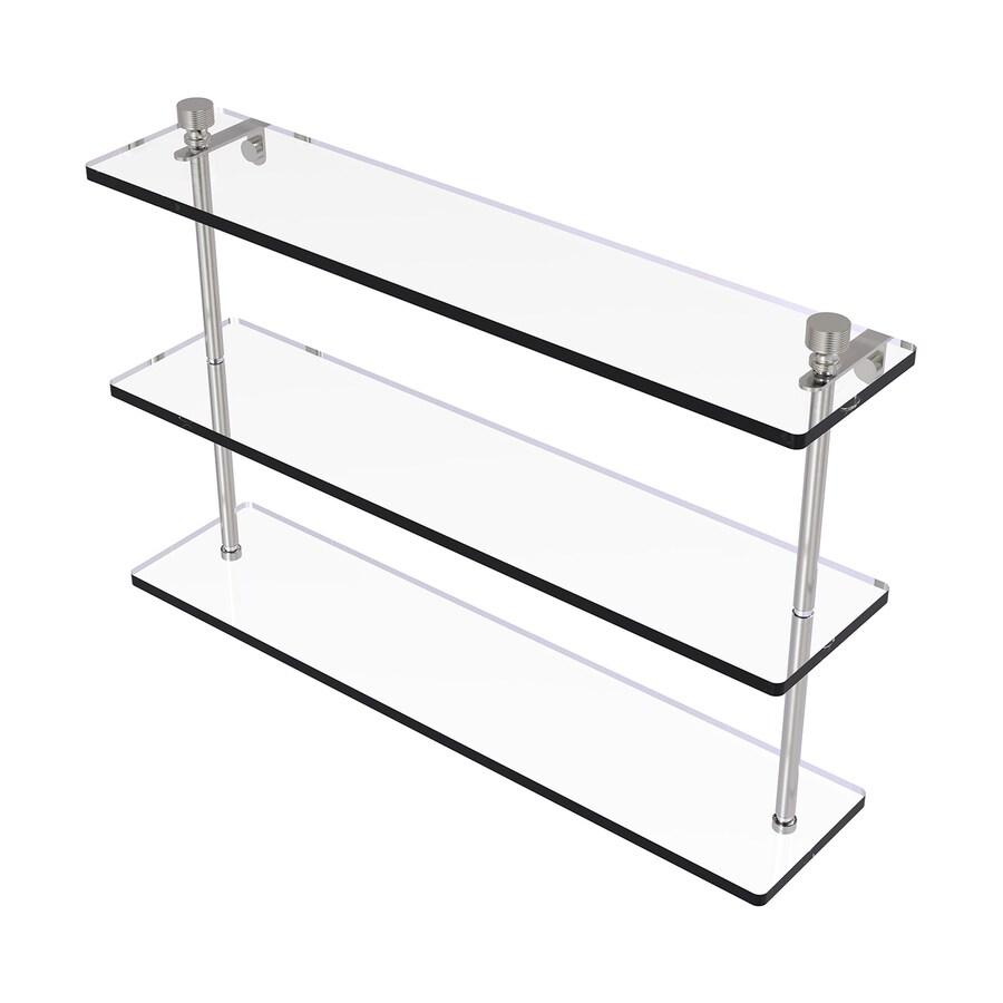 Shop Allied Brass Foxtrot 3-Tier Satin Nickel Brass Bathroom Shelf ...