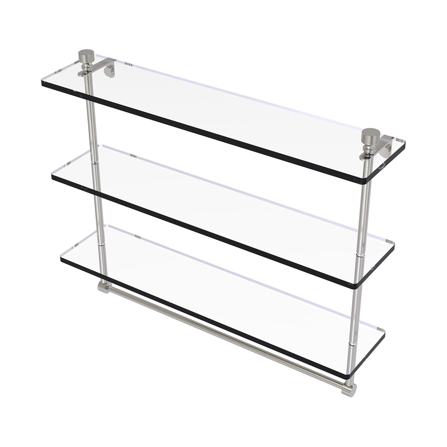 Allied Brass Foxtrot 3-Tier Satin Nickel Brass Bathroom Shelf