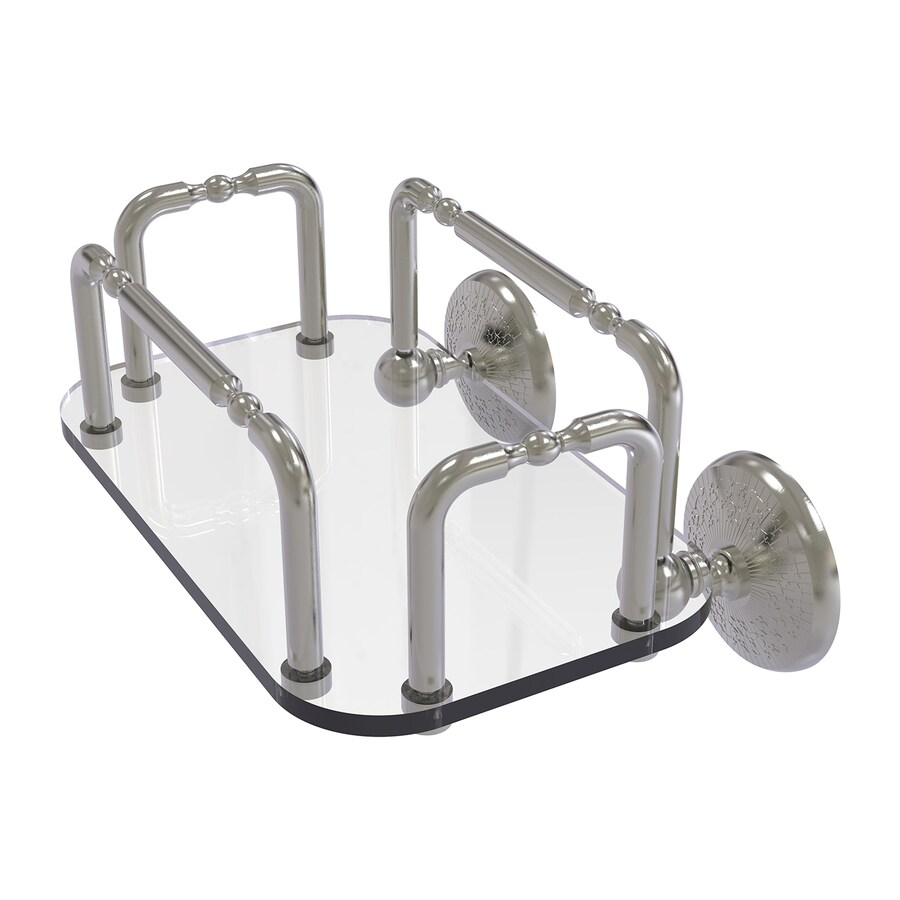 Allied Brass Monte Carlo Satin Nickel Brass Bathroom Shelf