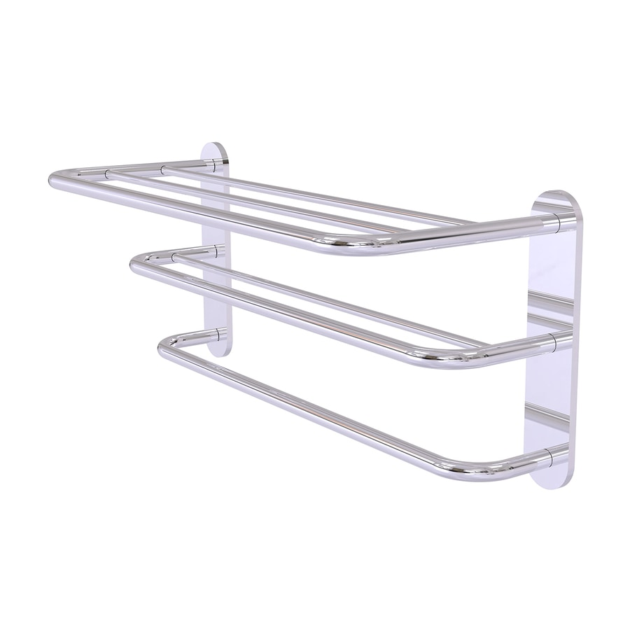 Allied Brass 3-Tier Polished Chrome Brass Bathroom Shelf